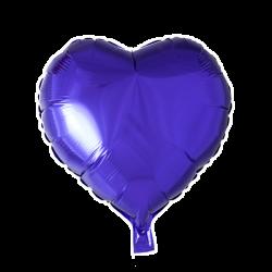 Heliumballon hart paars standaard