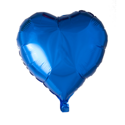 Heliumballon hart blauw standaard