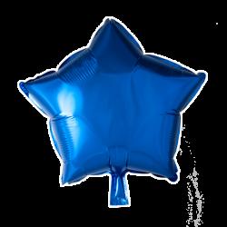 Heliumballon ster blauw standaard