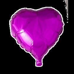 Heliumballon hart hardroze standaard