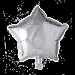 Heliumballon ster zilver standaard