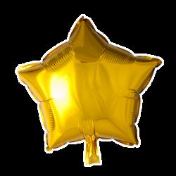 Heliumballon ster goud standaard