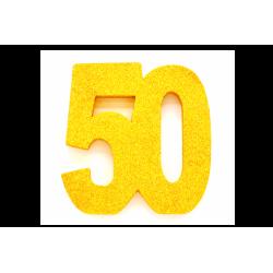 Tafeldecoratie goud glitter 50