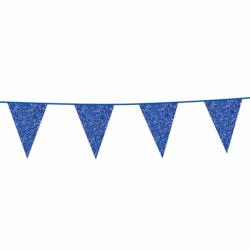 Vlaggenlijn glitter blauw