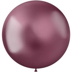 5 ballonnen chroom pink 48 cm