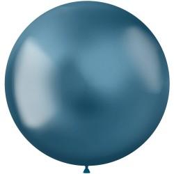 5 ballonnen chroom blauw 48 cm