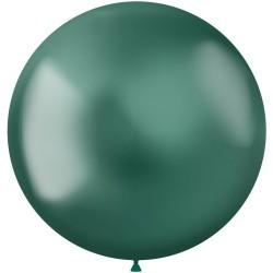 5 ballonnen chroom groen 48 cm