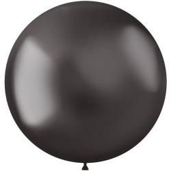 5 ballonnen chroom grey 48 cm