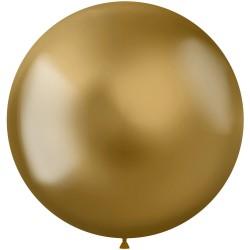 5 ballonnen chroom goud 48 cm