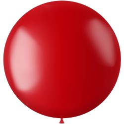 Ballon 78 cm metallic Fiery Red met helium