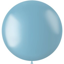Ballon 78 cm metallic Sky Blue