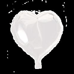 Heliumballon hart wit standaard