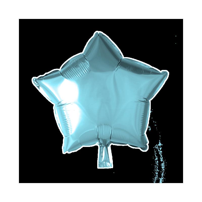 Heliumballon ster licht blauw standaard