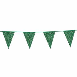 Vlaggenlijn glitter groen