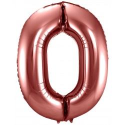 Ballon cijfer 0 Brons