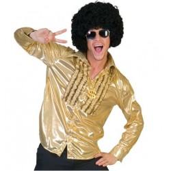 Overhemd glans goud