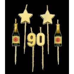 Party kaarsjes 90