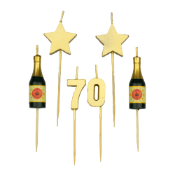 Party kaarsjes 70