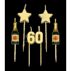 Party kaarsjes 60