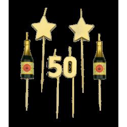 Party kaarsjes 50
