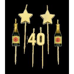 Party kaarsjes 40