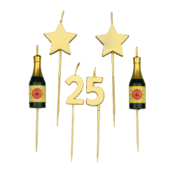 Party kaarsjes 25