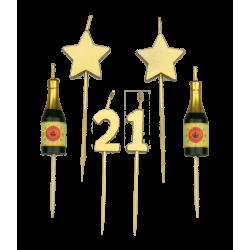 Party kaarsjes 21