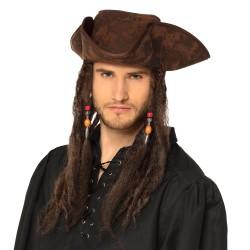 Hoed piraat met haar
