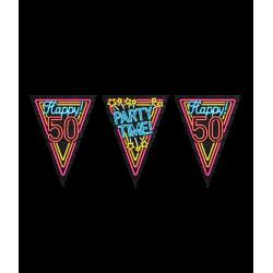 Vlaggenlijn Neon 50 Party Time