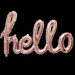 Folieballon Hello rosé goud