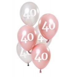 Ballonnen Glossy Pink 40