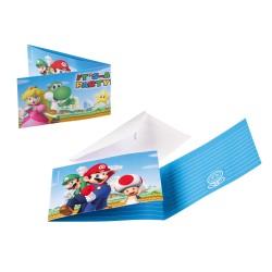 Uitnodigingen Super Mario