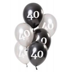 Ballonnen Glossy Black 40