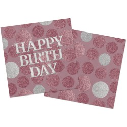 Servetten Happy Birthday...