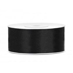 Satijnlint 25 mm zwart