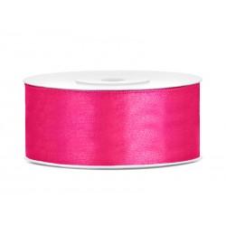 Satijnlint 25 mm dark pink