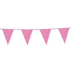 Vlaggenlijn glitter licht roze