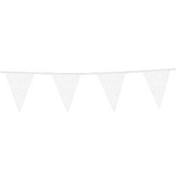 Vlaggenlijn glitter wit