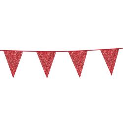 Vlaggenlijn glitter rood