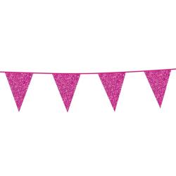 Vlaggenlijn glitter roze