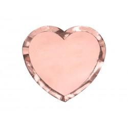 Bord hart rosé goud