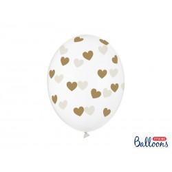 Ballon met gouden hartjes