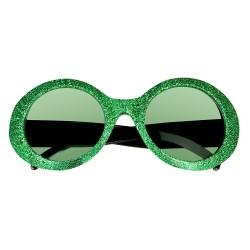 Bril glitter groen
