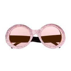 Bril glitter roze