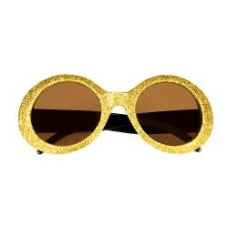 Bril glitter goud