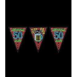 Vlaggenlijn Neon 50 Abraham