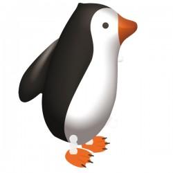 Heliumballon lopende pinguin