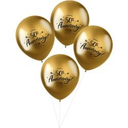 Ballonnen goud Happy 50th...