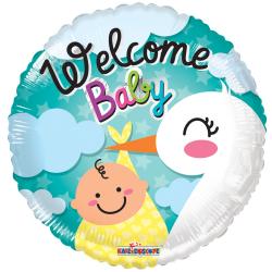 Heliumballon Welcome Baby