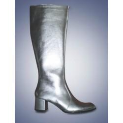 Zilveren dames laarzen